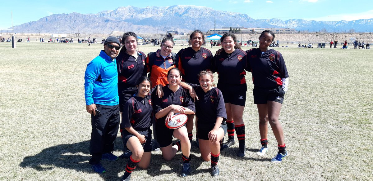El Paso Amazons go undefeated in ABQ! The team of Chapin HS and YWLA players repped the Borderland well. Way to go, ladies! #GrowTheGame #RugbyForHer #sheleads #YWLA #PlayRugby #ElPaso #BorderlandRugby #ChapinHS #Rugby #NMYR #YISD #EPISD