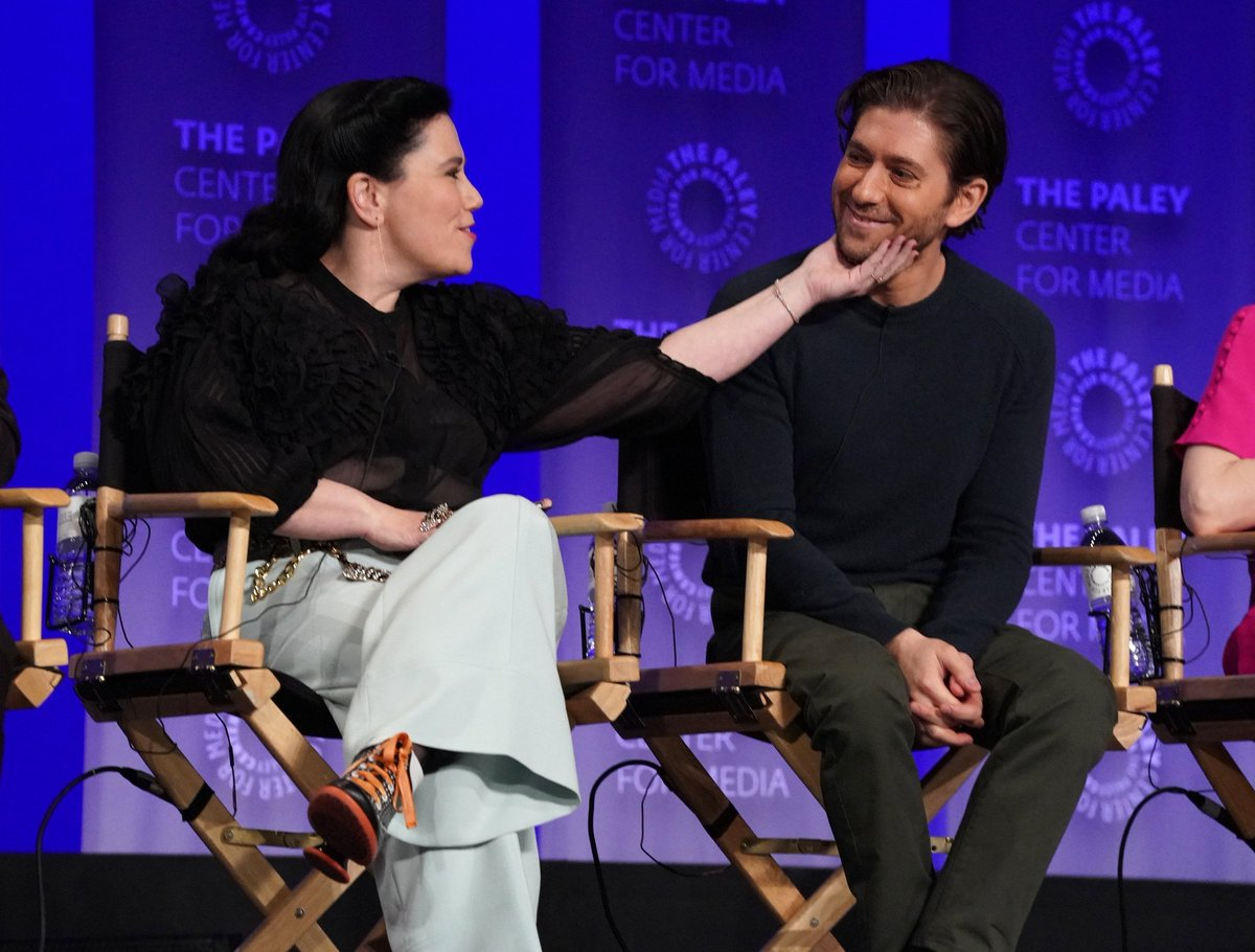 Oh this got me!!! Aww Alex and Michael, really like each other #MarvelousMrsMaisel #PaleyFest<br>http://pic.twitter.com/9lmsBxoSj0