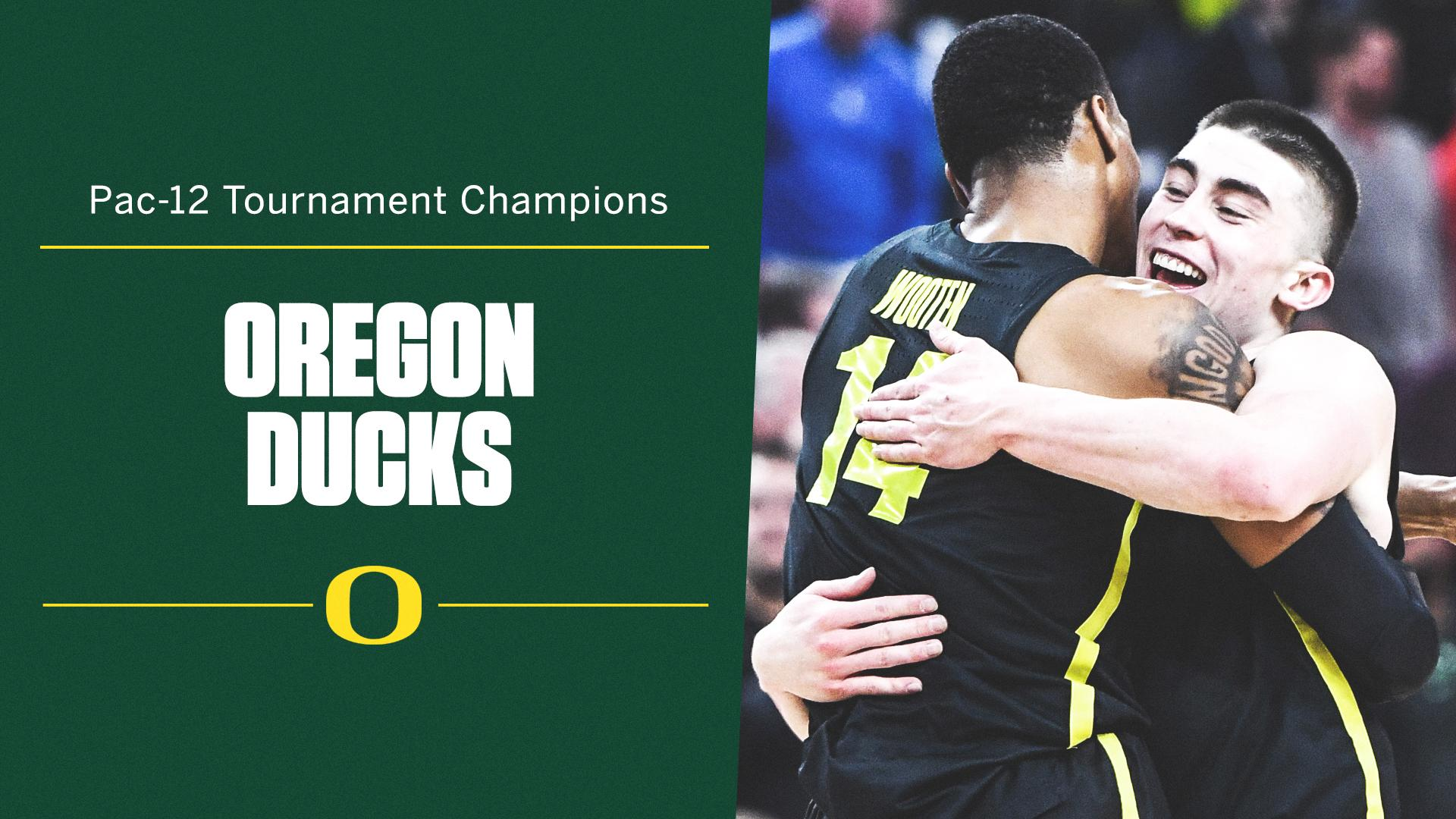 The Ducks are back in the dance!  6-seed Oregon defeats top-seeded Washington to win the Pac-12 Tournament. https://t.co/N2ogKtET2h