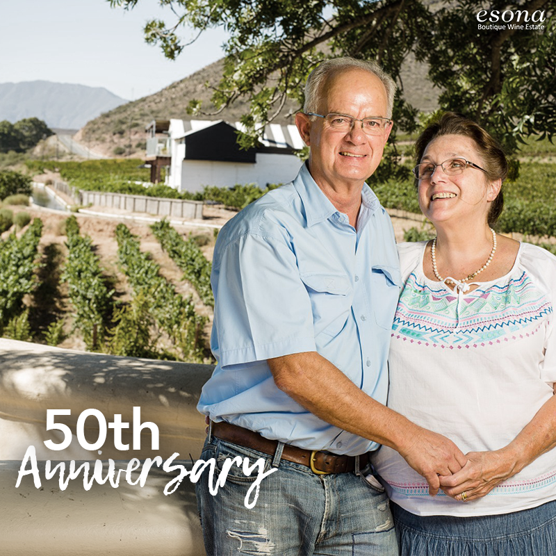 A milestone worth gold. Caryl & Rowan Beattie celebrate 50 years of marriage today! 2019 is truly a #goldenyear for the couple behind Esona. Please join us in toasting their special day as well as their future success. #esonawines #boutiquewineestate #makememoriesgreatpic.twitter.com/SJp54W3gJW