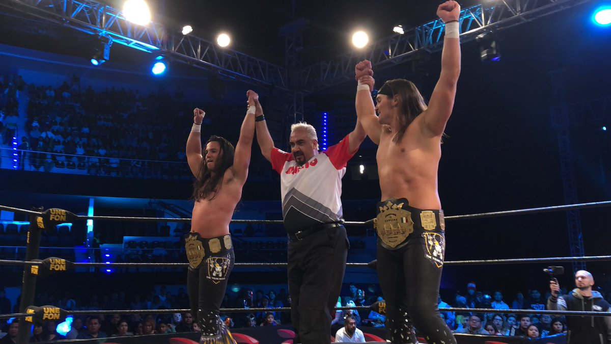 🚨Breaking News🚨 @MattJackson13 and @NickJacksonYB are the NEW @luchalibreaaa team champions https://t.co/NkqTnsyg7u