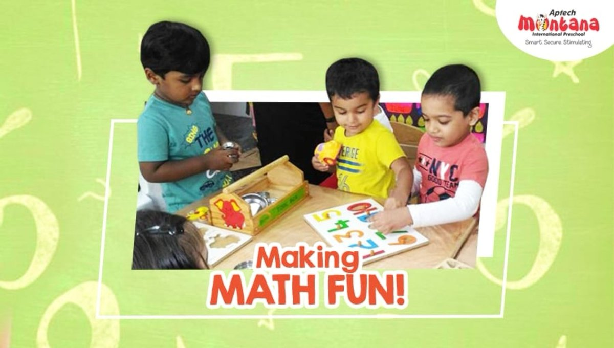 MATH! An important, yet complex subject for most children. You need to make math fun for your child, but how? Click here https://t.co/bgBehte20t to know more.  #AptechMontanaInternationalPreschool #Blog #Maths #Mathematics #LearningNumbers #MathForChildren #Preschool #Daycare https://t.co/QXCmVEu97k