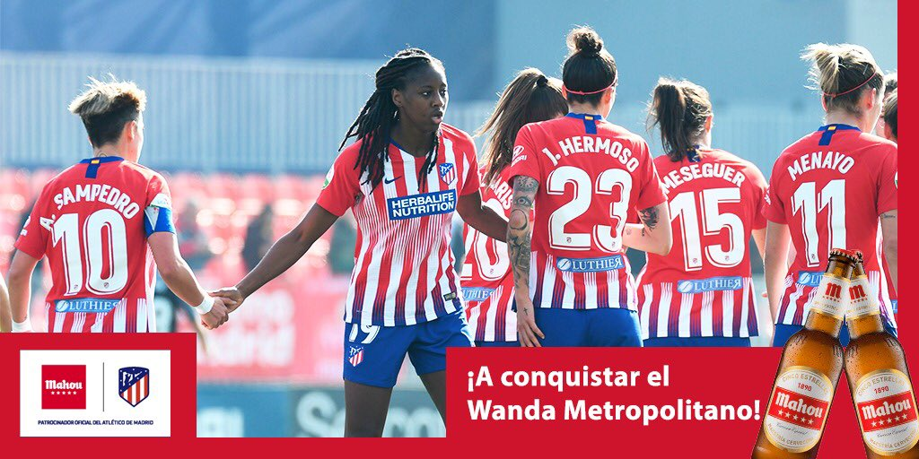 Hoy el Wanda @Metropolitano es el lugar de un ESPECTÁCULO INÉDITO ¡#AúpaAtleti, #AúpaChicas!  @AtletiFemenino