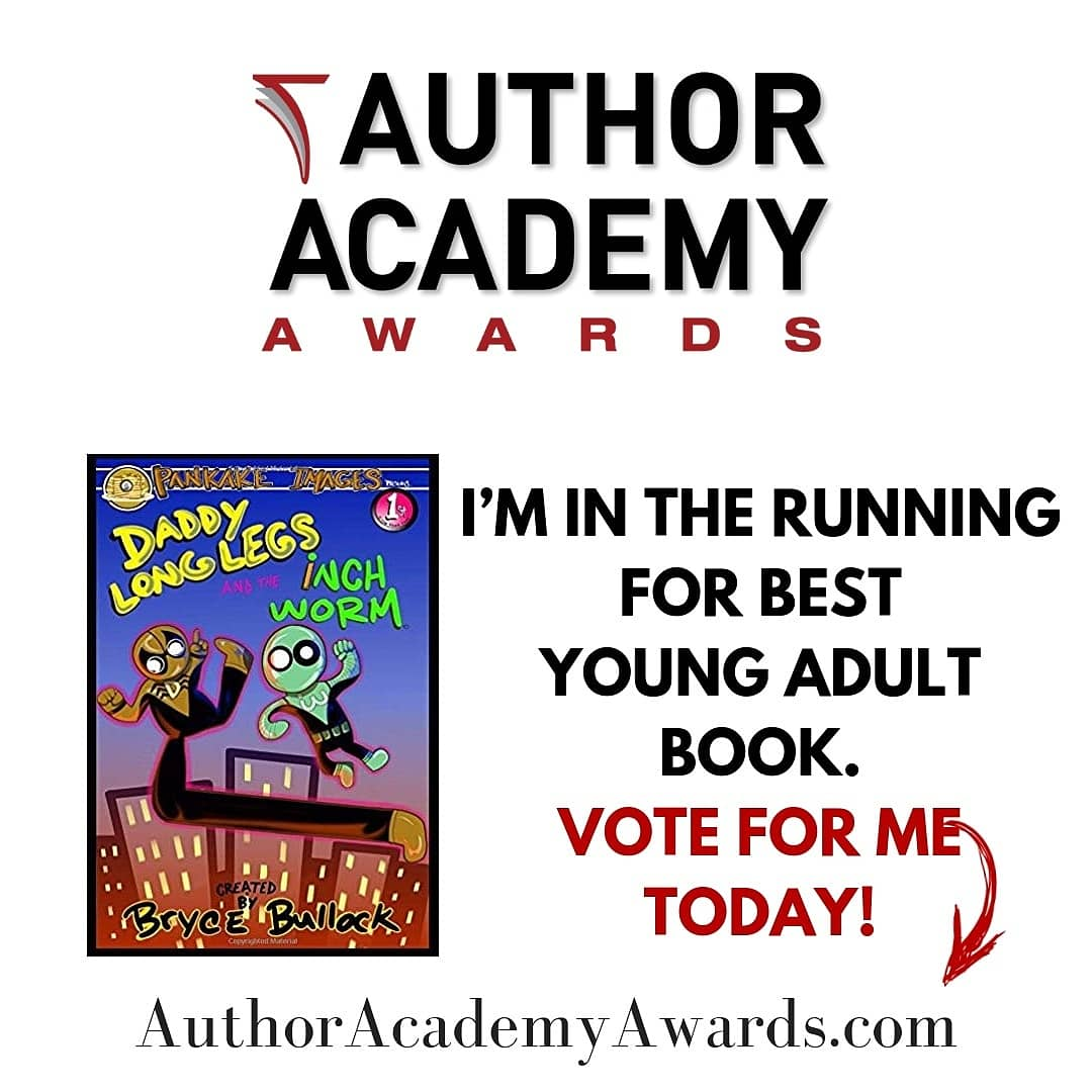 My son Bryce has been entered into the Author Academy Awards in the category of Young Adult/ Middle age for &quot;Daddy Long Legs and the Inchworm&quot;!!!  Please take a moment to VOTE for him!!! Thank you  #becreativeinwilm #Fox29GoodDay #scholasticnews #childrenbooks #childrenstories<br>http://pic.twitter.com/vkwlmN3Ztd