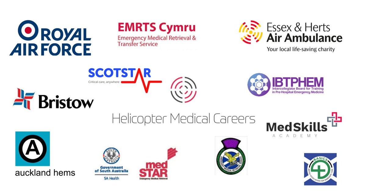6 days to the world's first Helicopter Medical Careers Conference  Meet our conference partners to discuss career & training opportunities  @RoyalAirForce @612Sqn @Aucklandhems @EHAAT_  @EmrtsWales @Bristow_Group @EMRSscotland @Scot_STAR @MedSTAR_SA @MedSkillsAcad @BASICSScotland