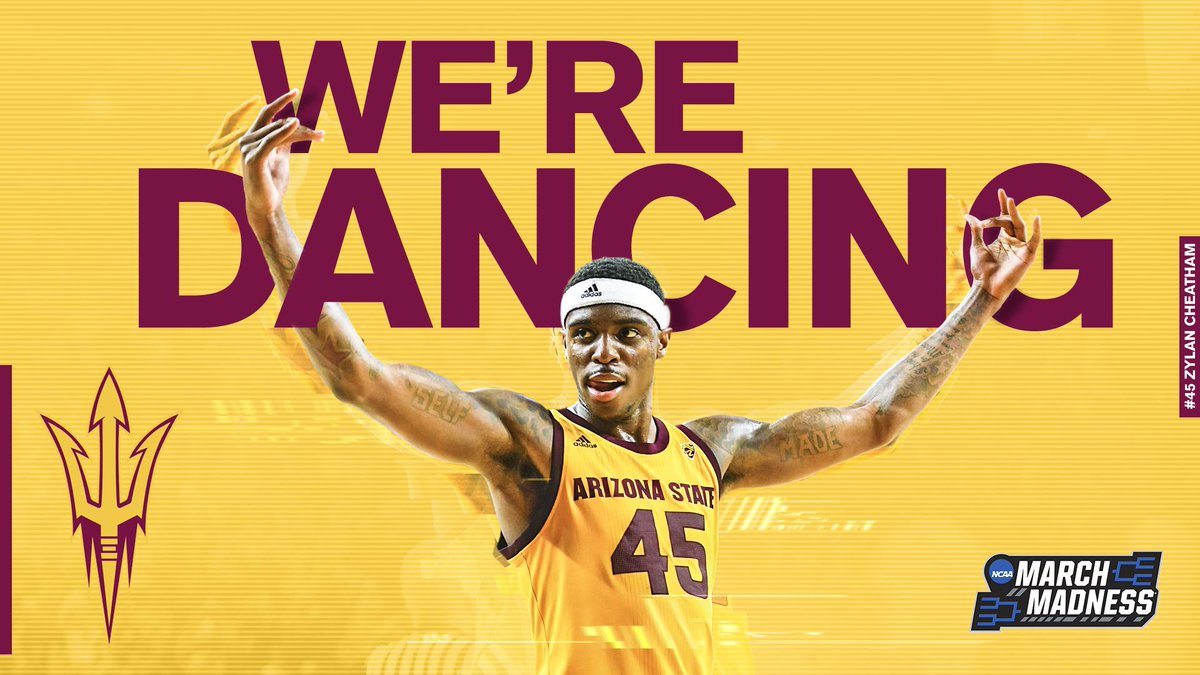 😈 TOURNAMENT BOUND 🔱  The Sun Devils earn a spot in the field of 68 after being selected to play in the First Four in Dayton!
