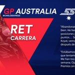 [INFO] 🇪🇸 Carlos Sainz abandona con un fallo técnico en el GP de Australia  👉 https://t.co/96GFwscrS4  🇬🇧 Carlos Sainz retires from the Australian GP with a technical glitch 👉 https://t.co/i1yisI3pQA    #carlo55ainz #AusGP 🇦🇺 #F1