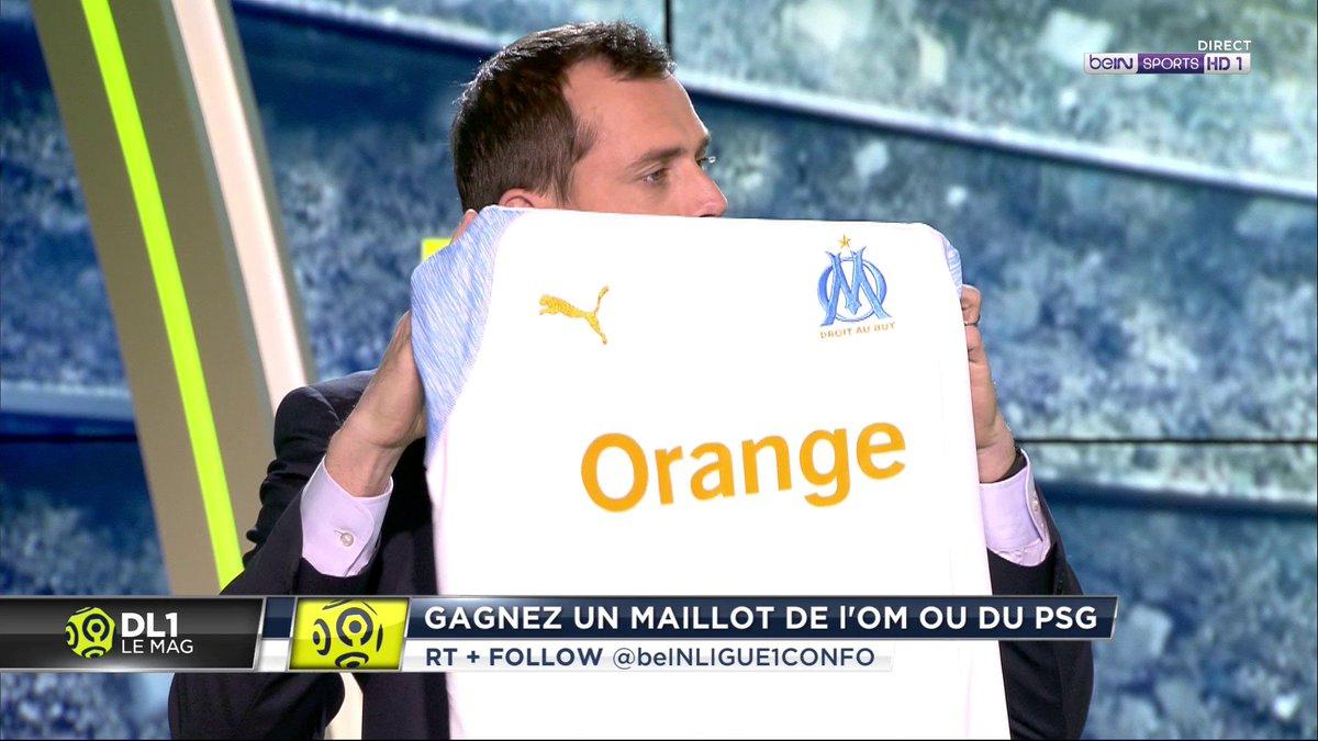 🎁 RT ce message et tentez de gagner les maillots du PSG et de l'OM, en précisant celui que vous souhaitez en commentaires ! ⚽ Follow @beINLigue1Confo pour jouer #DL1  #PSGOM