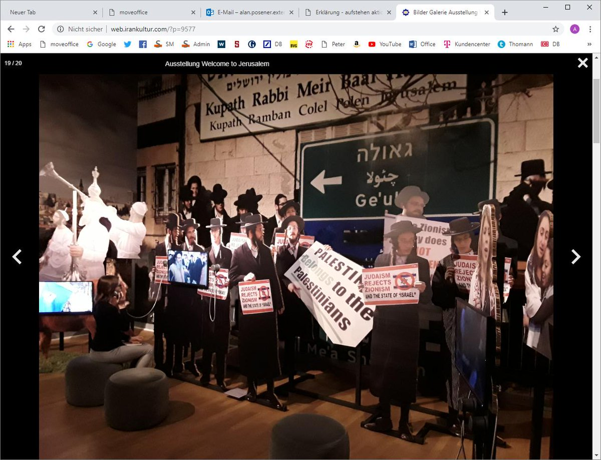 This is the centrepiece of the Jerusalem exhibit at the Jewish Museum in Berlin. Now why do you think a representative of the Iranian regime praised the Museum and its director? #AntiSemitism @jmberlin #IsraelUnderFire <br>http://pic.twitter.com/KOCMue570q