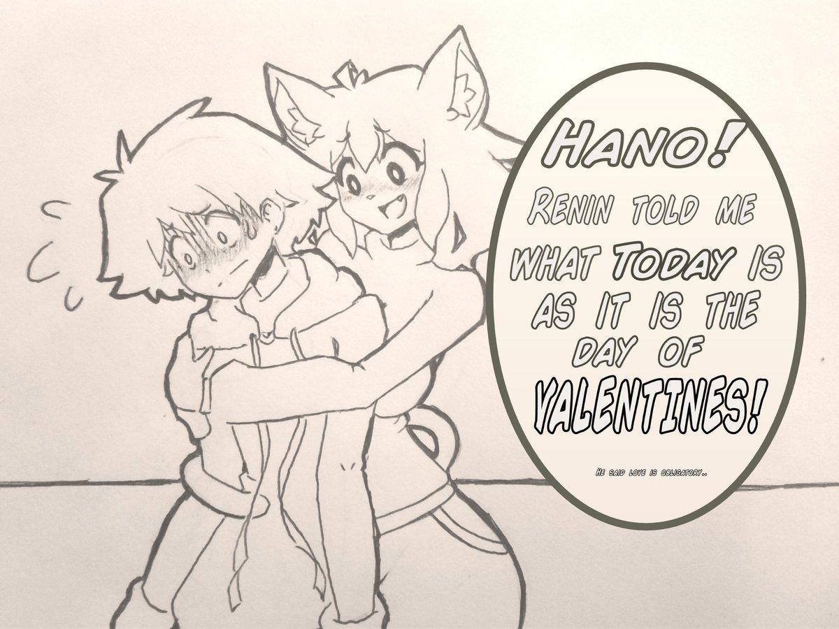 Last valentines day art. #art #oc #drawing #neko #Valentines #ValentinesDay2019<br>http://pic.twitter.com/FFdpKlz39f