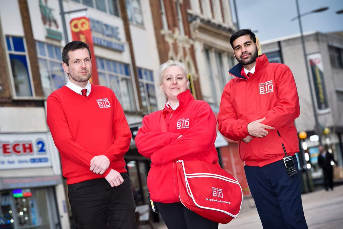 Meet the #StokeonTrentBID team! 👋 You'll see our lovely Street Ambassadors around the BID area, talking to businesses & chatting with visitors to the City Centre.They're on hand to address your concerns, answer your questions & provide a welcoming environment for all! 😀