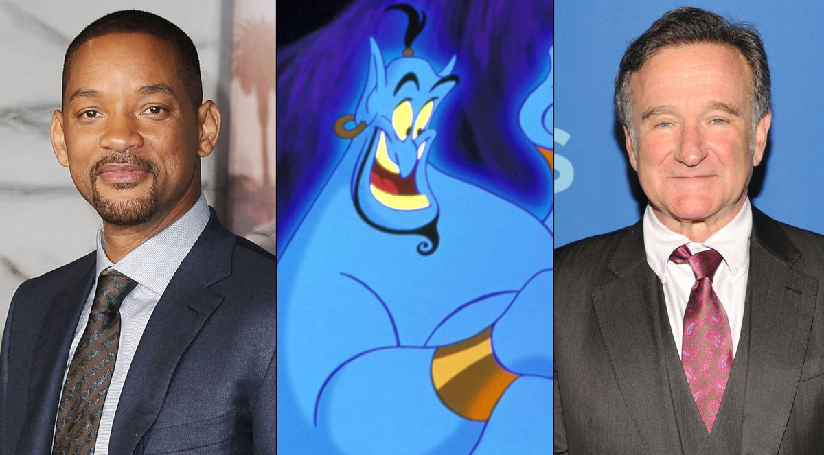 """Will Smith posts moving tribute to Robin Williams as Genie from Disney's """"Aladdin"""" #Aladdin #RobinWilliams #WillSmithGenie  http:// bit.ly/2UEcluT  &nbsp;  <br>http://pic.twitter.com/s8LfDZK14s"""