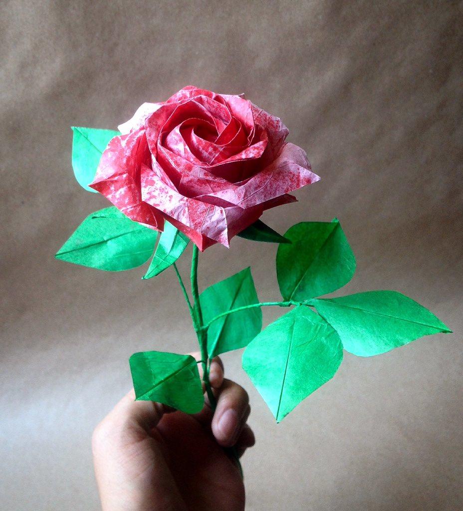 Origami rose   http://www. etsy.com/shop/bibesorig ami &nbsp; …  #origami #origamiart #origamiartist #origamirose #origamiroses #paperart #paperartist #paperrose #paperroses #rose #roses #rosa #rosas<br>http://pic.twitter.com/immj45wU41