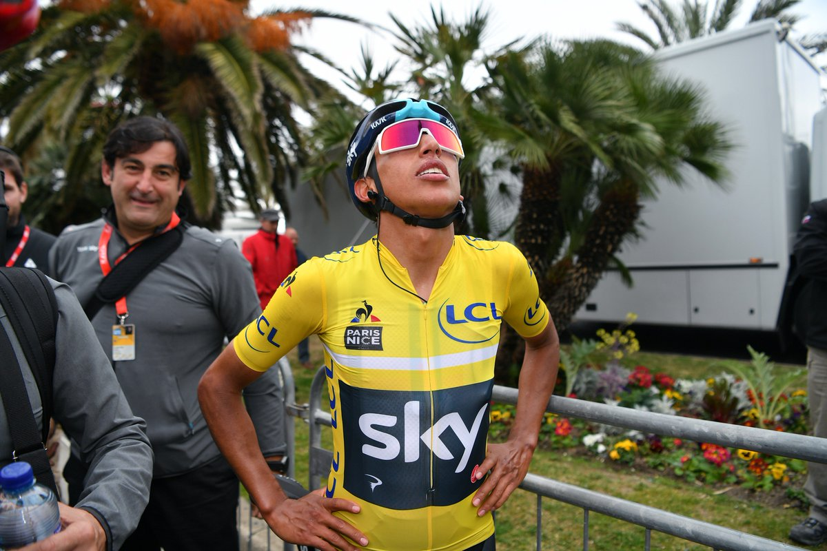 """""""I can't believe that I just won Paris-Nice. It's incredible for me. I... I just can't believe it yet.""""  @Eganbernal 💛 #ParisNice"""