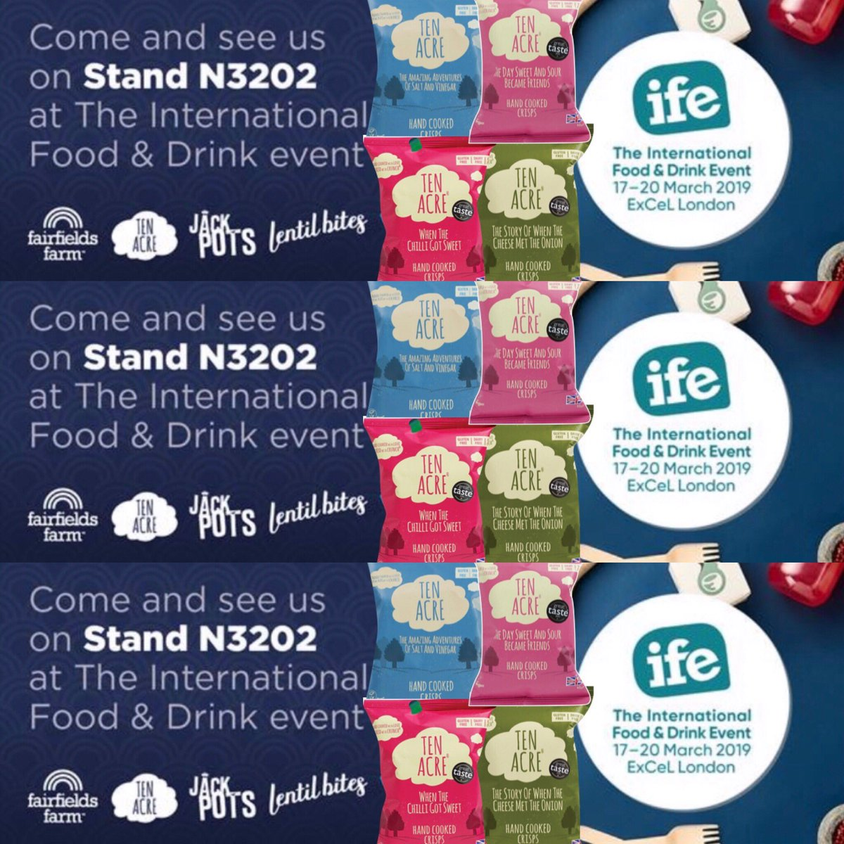 Come and see us at @IFE_Event @ExCeLLondon opens 11am today stand N3202 #ife19 #excellondon