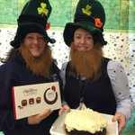 Image for the Tweet beginning: Happy #StPatricksDay! Our staff celebrated