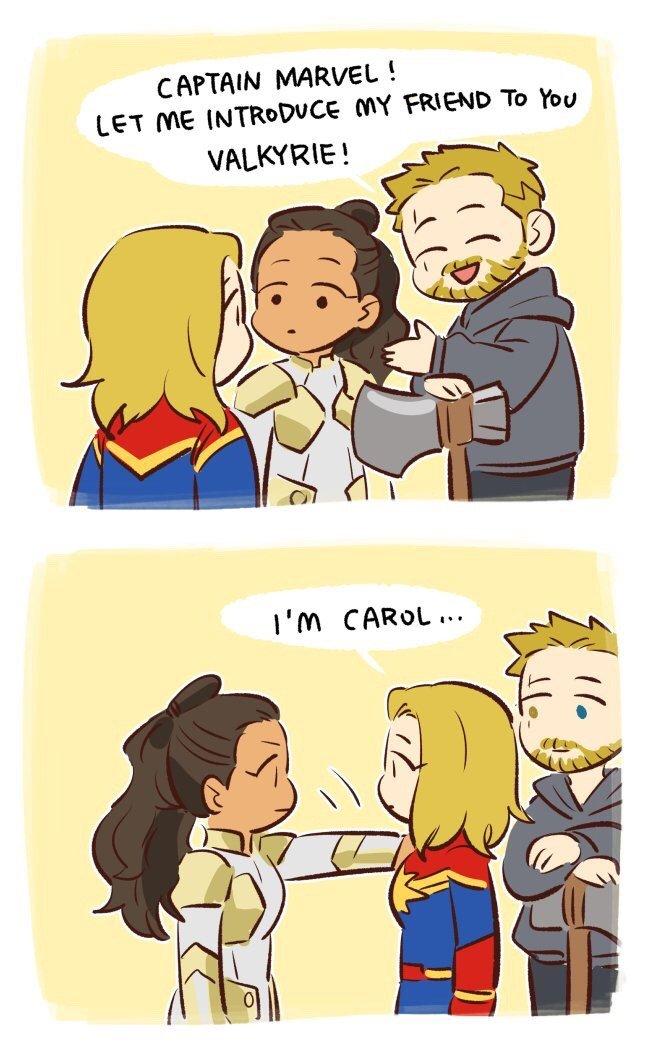 RT @SidneyTucker666: #InfinityWar #Valkyrie #CaptainMarvel #Thor #IntoTheSpiderVerse references https://t.co/k8K0zibmzz