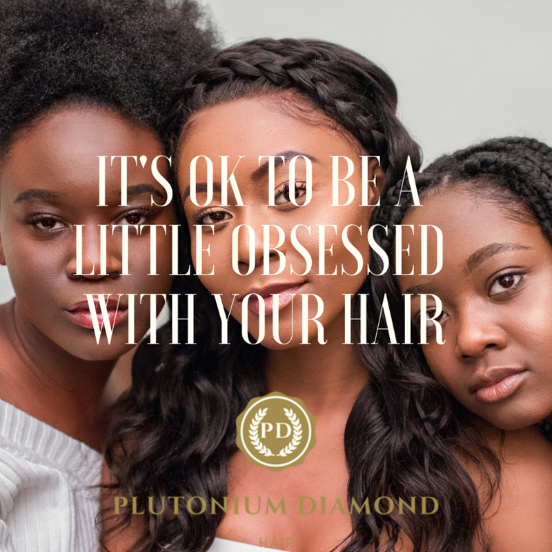 It's ok to be a little obsessed    with our hair. #PlutoniumDiamondHair**** #beautifulhairstyle