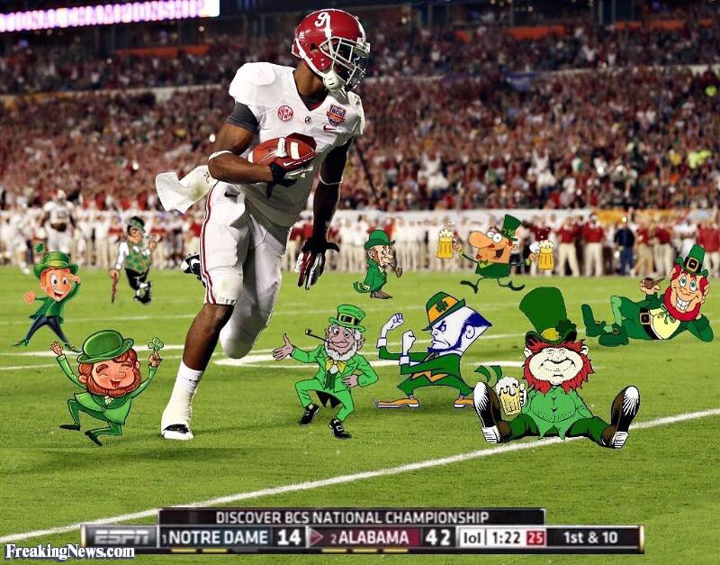 Happy St' Patrick's Day to all of our Fightin' Irish friends! #RollTide<br>http://pic.twitter.com/tipNOIDFmT