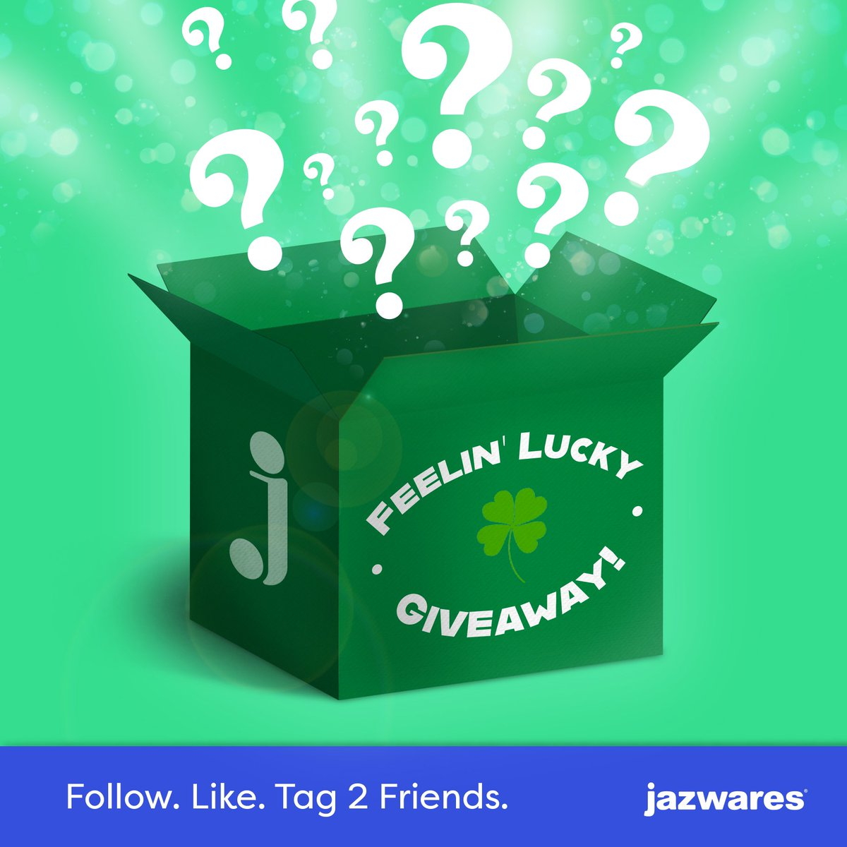 Winner takes all! Like, follow, and tag two friends for the chance to win a mystery box filled with Jazwares goodies! So tell us, are you feelin' lucky 🍀 ?  🛍 One (1) Jazwares Mystery Box 🗓️ Ends 3/17 @ 11:59 pm EST  📣Rules: https://www.jazwares.com/sweepstakes