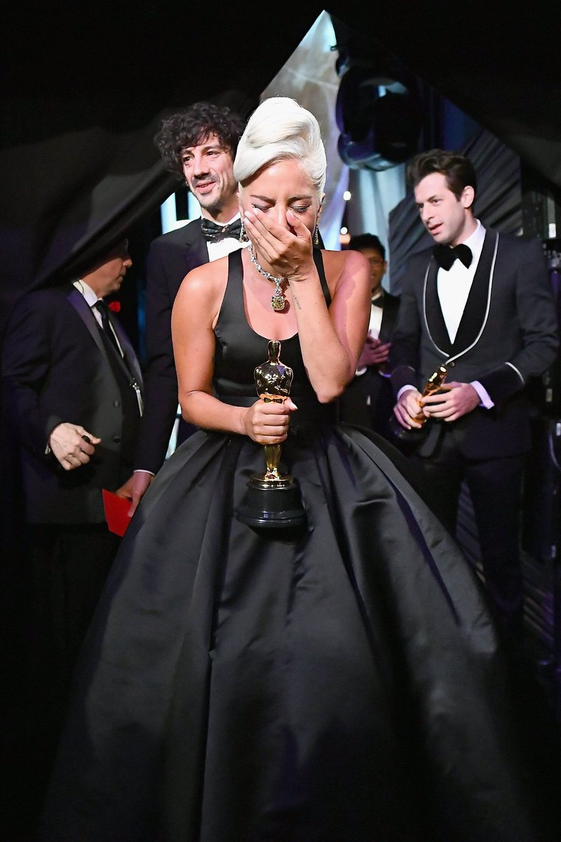 Good morning to Lady Gaga who became an Academy Award winner 3 weeks ago only.   @ladygaga