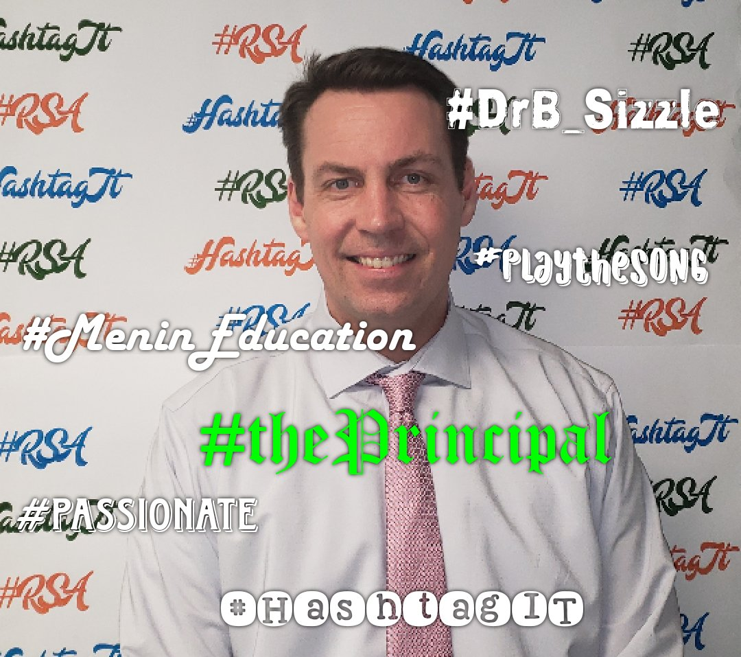 Happy #StPatricksDay  Dr. Bradley! 5 hashtags from the #RSAfamily: #thePrincipal #Passionate #MeninEducation  #DrB_Sizzle #playthesong 💙💚🧡 Thank you for loving our children! #HashtagIT  #Champions4Children  #TheBESTPerformingArtsSchoolinD4 https://t.co/ryNufCNAZv