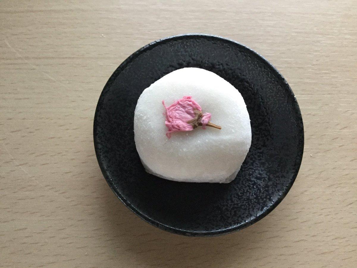 榮太棲総本舗の「桜大福」🌸  桜の花を乗せた、ちょっと大振りの大福、桜餡と蓬餡入りとあります。  お餅の中にたっぷり入った蓬餡と塩味の効いた桜餡は、甘さも程よく風味豊かで、それをまとめるお餅が美味しくて、印象に残る綺麗な春の口福でした。 #桜のお菓子🌸