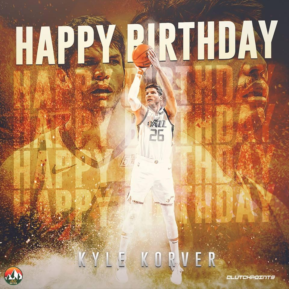 Join Jazz Nation in wishing Kyle Korver a happy 38th birthday