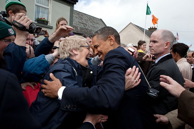 In 2011, I visited the tiny town of Moneygall and got to walk around in the house where my great-great-great grandfather Falmouth Kearney lived his early life. I'll always be grateful for the warmth and generosity of the Irish people. Happy St. Patrick's Day! -Barack O'Bama