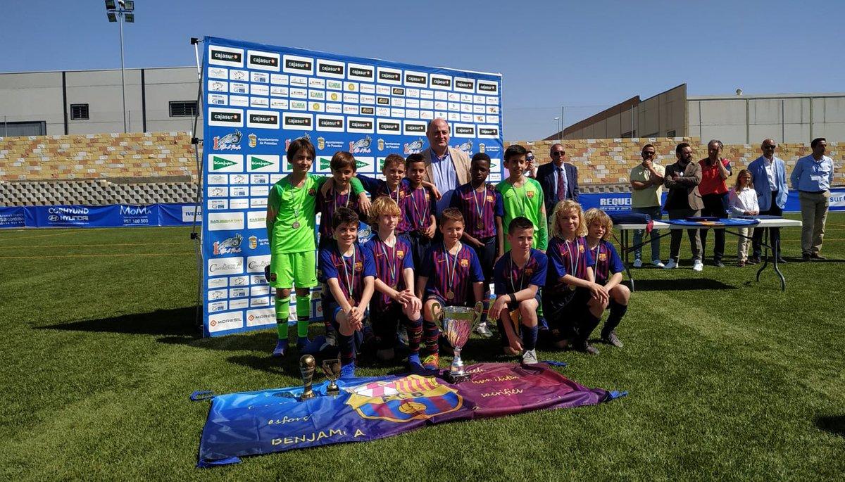 🏆 International Cup Villa de Posadas 📍 Còrdova  ➡️ FINAL  ⚽️ Benjamí A - Sevilla (2-1) 👍 CAMPIONS! 👏 Moltes felicitats equip!!   💪 La Masia batega amb força!!  #FCBMasia #ForçaBarça🔵🔴