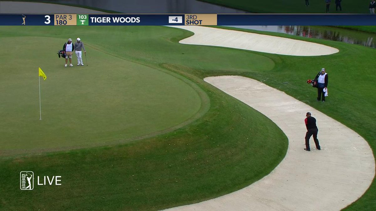 Video: Tiger Woods Hits An Awesome Shot At The Players Championship