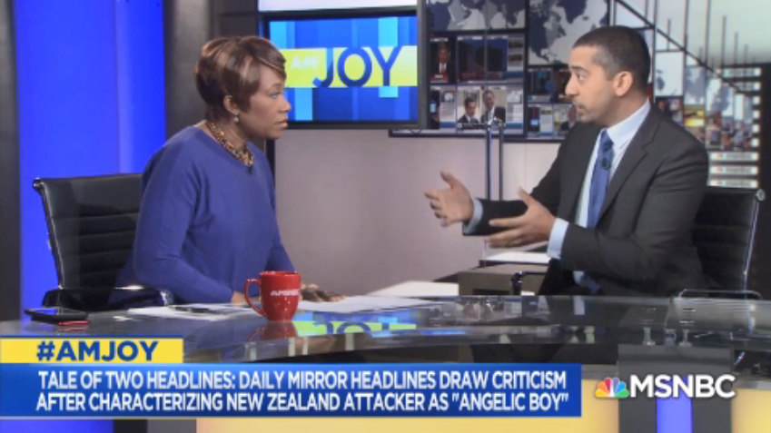 .@mehdirhasan: This is always the case with the white shooter. Was he mentally ill? Lonely? The Muslim killer is always a terrorist. If you believe the view of some in the media, we&#39;re immune to mental illness... The word terrorism is not used for people who are not Muslim #AMJoy <br>http://pic.twitter.com/hOm0gqTQue