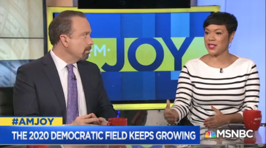 .@TiffanyDCross: You cannot be friends with a bully. You cannot meet a bigot in the middle. And that's what you see on the right. So anyone who thinks someone who will walk the middle of the road and get these mysterious non-existent #Trump swing voters, it doesn't happen. #AMJoy