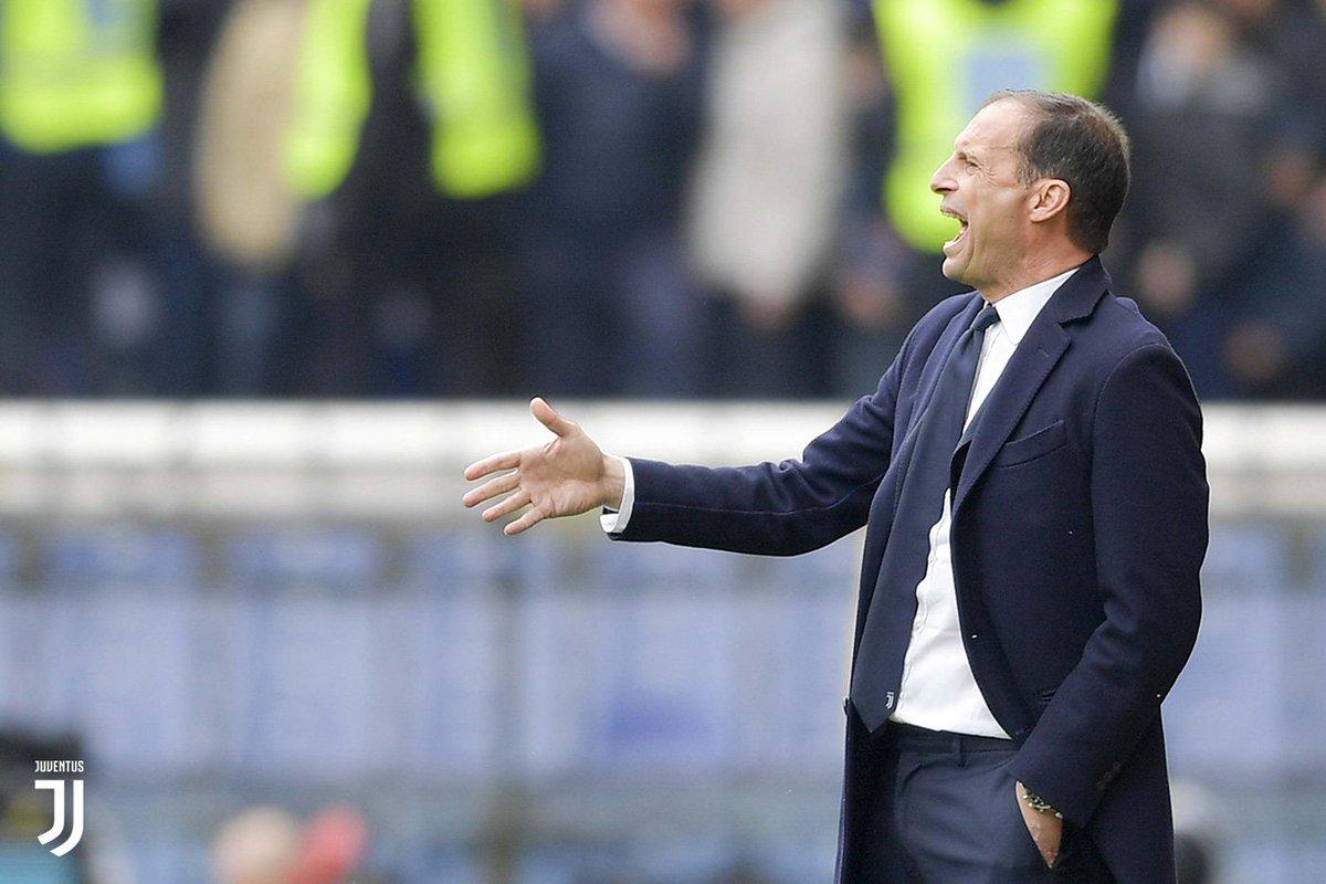 Le parole di Mister #Allegri alla fine di #GenoaJuve: «Ci dispiace per la sconfitta, ma non è un dramma». http://juve.it/sxzS30o4K30