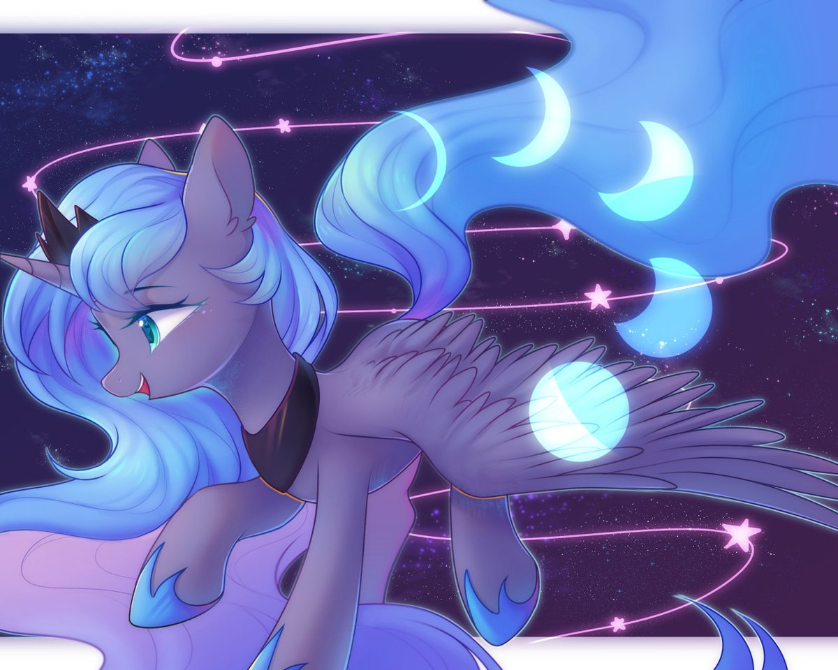 The Moon Princess (By Leafywind) #MLPFiM #MLP #PrincessLuna #Brony <br>http://pic.twitter.com/ruJrAaaDIf