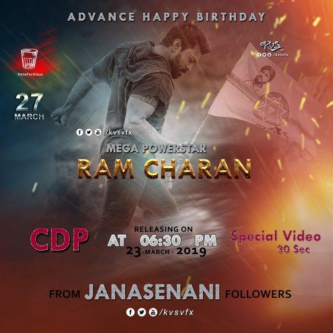 Advance Happy Birthday Ram Charan