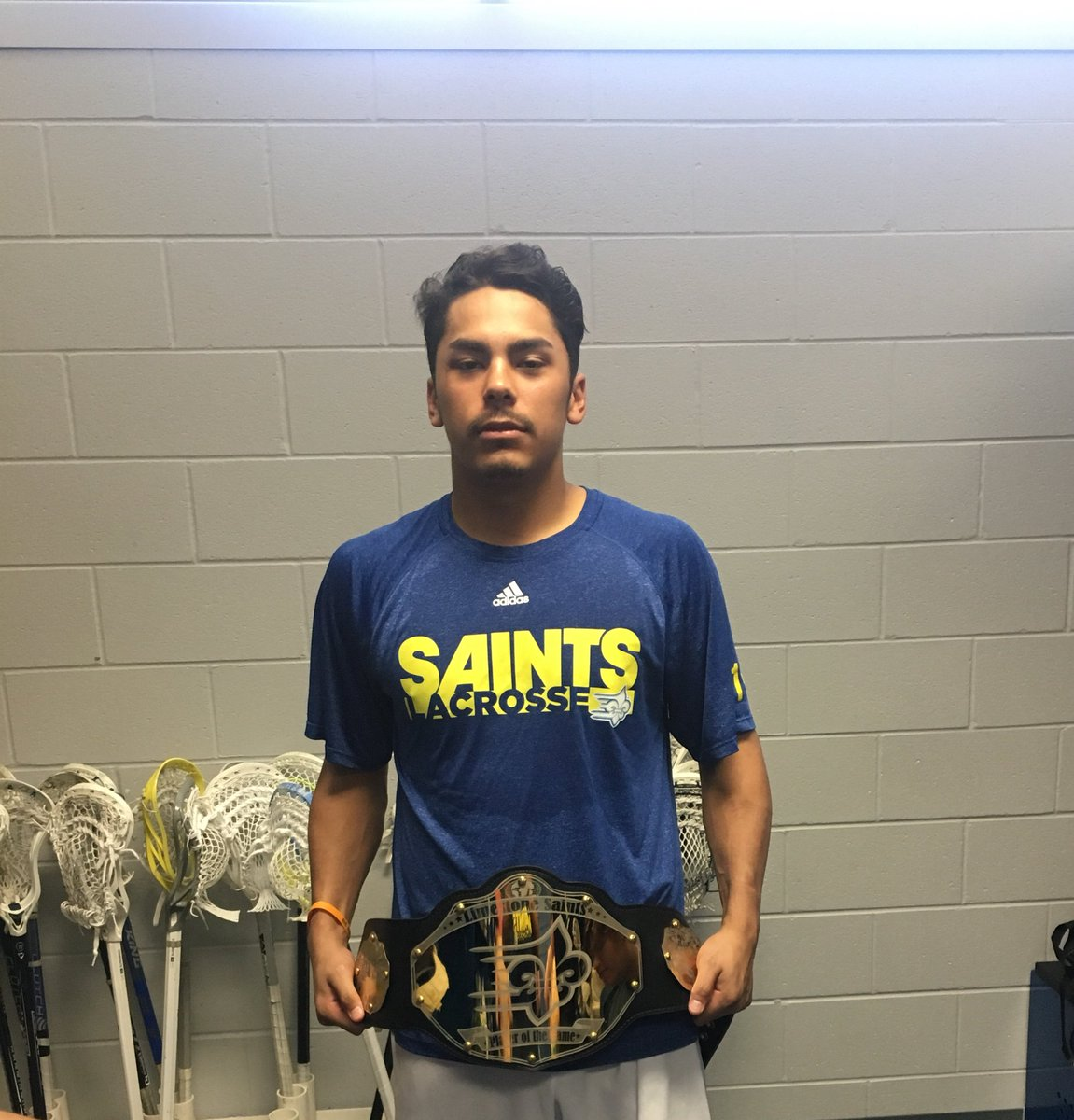With a win over #9 Seton Hill yesterday, @LimestoneLax Heavyweight Player of the game is...  Larson Sundown @TheRealLarsonS who chipped in 5 goals & 1 assist.  @JuniorAdanacs @LaxTigers @OCCLACROSSE   #TeamTogether