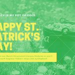 Image for the Tweet beginning: Happy St. Patrick's Day! Sign