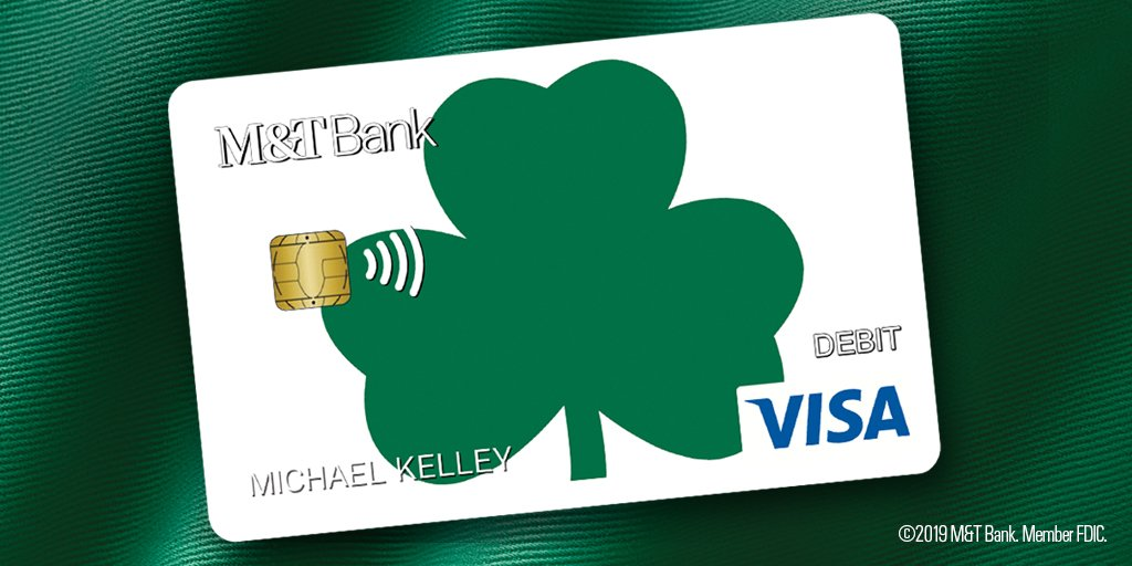 """""""Irish Heritage Month is upon us  It's Saint Patrick's Day let's discuss  Hope you have the best luck  And more bang for your buck  With your M&T Card there's no fuss!"""""""