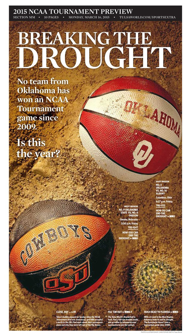Selection Sunday kicks off one of my favorite weeks of the year. Always loved the hustle to put out special sections on deadline, and it had me thinking back to my two @tulsaworld covers from 2015 and 2016.