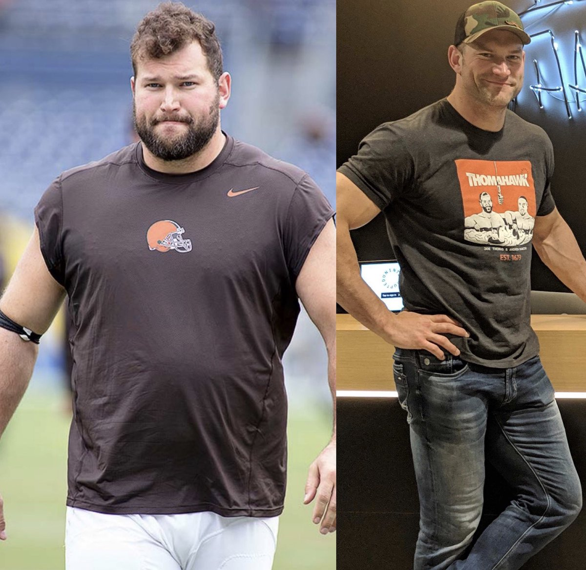 Use the Retweet button as a round of applause for @joethomas73 incredible transformation.
