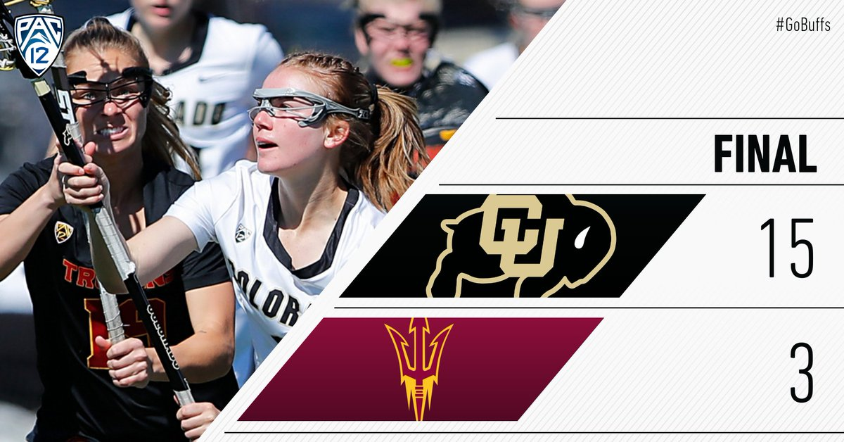 Buffs finish the weekend with a nice win against Arizona State #GoBuffs