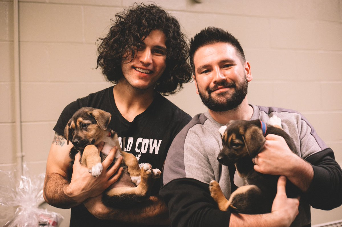 .@adoptatcas brought these sweet pups to the venue for us to love on, and truly made our day.  they are all patiently waiting for their forever home, and are available for adoption right now.  if you're looking for a pet, we strongly encourage you to #adoptdontshop.   <br>http://pic.twitter.com/wpWpzjoJtR