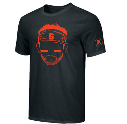 TWITTER GIVEAWAY TIME   RT + FOLLOW ME for a chance to win a Baker Mayfield shirt from the Barstool Store! Winner will get to pick their size and color. Winner will be picked by a random retweet generator on 3/23. Any questions feel free to ask/DM. Go #Browns!<br>http://pic.twitter.com/Hvb5QeLPue