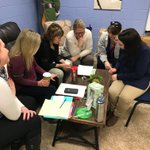 Image for the Tweet beginning: Sward staff solving a brainteaser