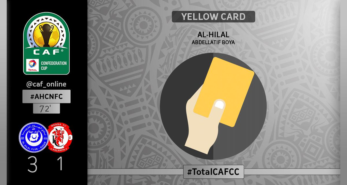 Caf On Twitter Booking Abdellatif Boya From Al Hilal Receives