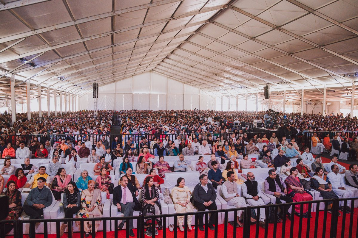 6000 people in the City Beautiful, Chandigarh experienced the untouched Self, whose beauty never fades. 2 day Vigyan Bhairav there was followed by a session on Leadership with businessmen in Ludhiana.