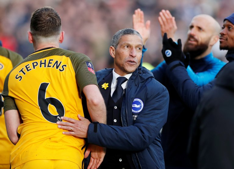 "LISTEN: Albion boss Chris Hughton says his side ""showed character"" after #FACup win over Millwall #bhafc #bbcfacup  👇 https://bbc.in/2Jk2R6Z"