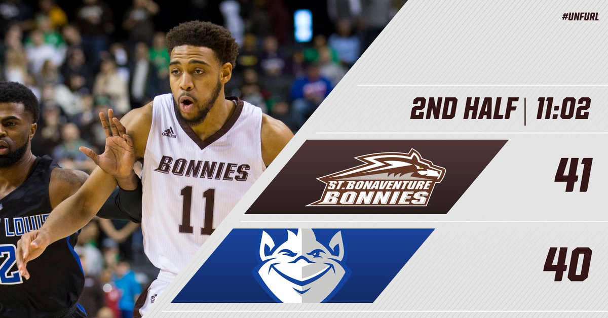 Now a one point game as we have hit a scoring drought. Nearing the midpoint of the second half.  #Bonnies