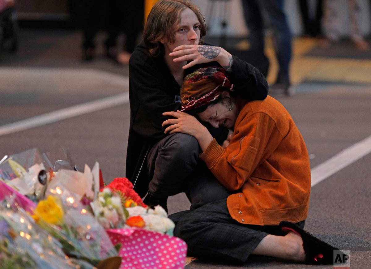 A steady stream of mourners paid tribute Sunday at a memorial for the 50 people slain by a gunman at two mosques in Christchurch. http://apne.ws/EPT2tL6